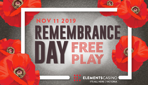 Rememberance Day Free Play Promo Victoria