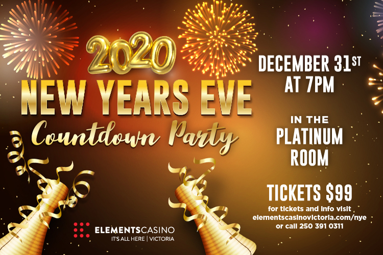 2020 New year Countdown party in Victoria with the TimeBenders